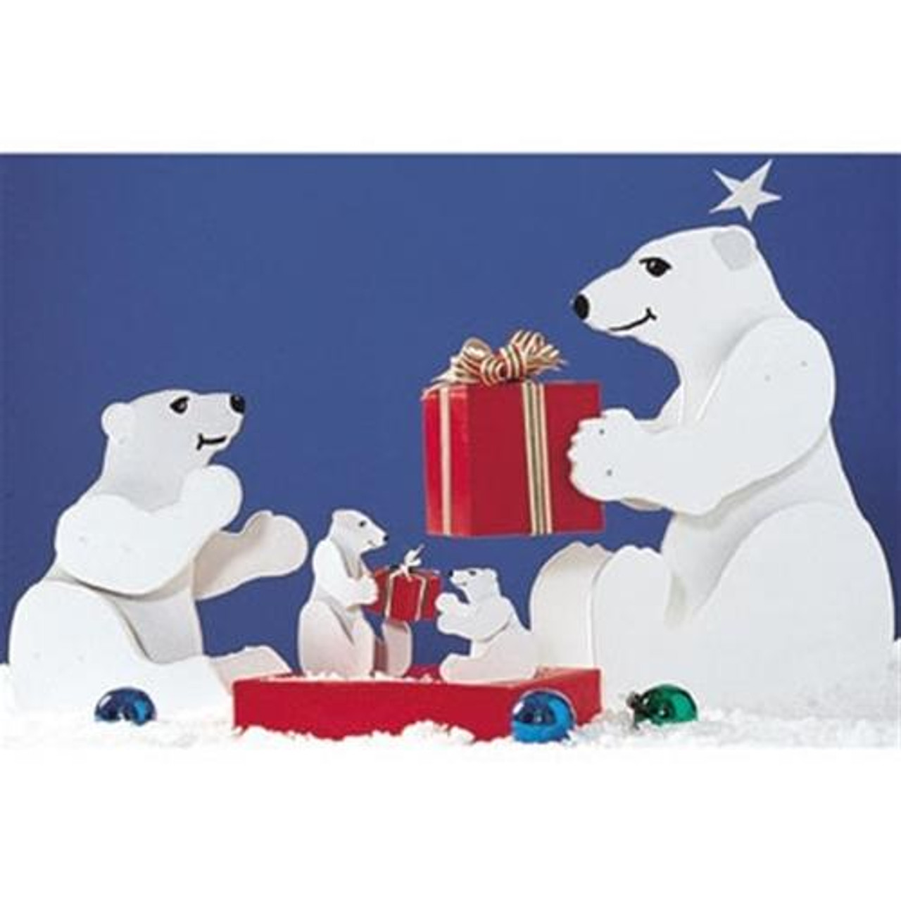 Wood Magazine Medium and Small Polar Bears Woodworking Plan is perfect for your holiday decorations.