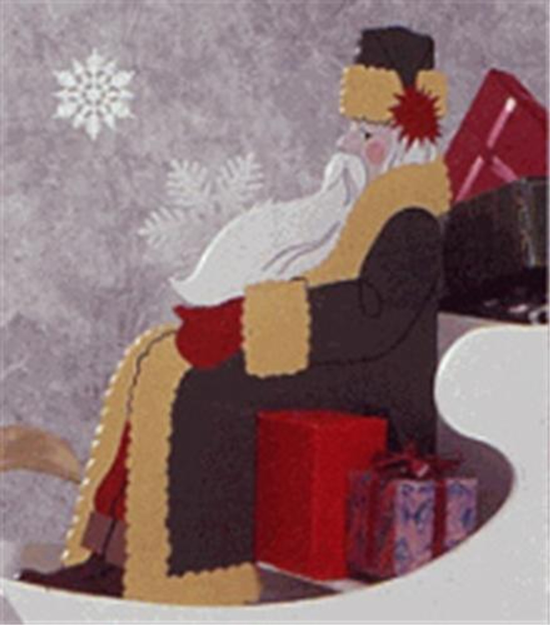 Wood Magazine High Styled Saint Nick woodworking Plan you can cut out of wood and paint.