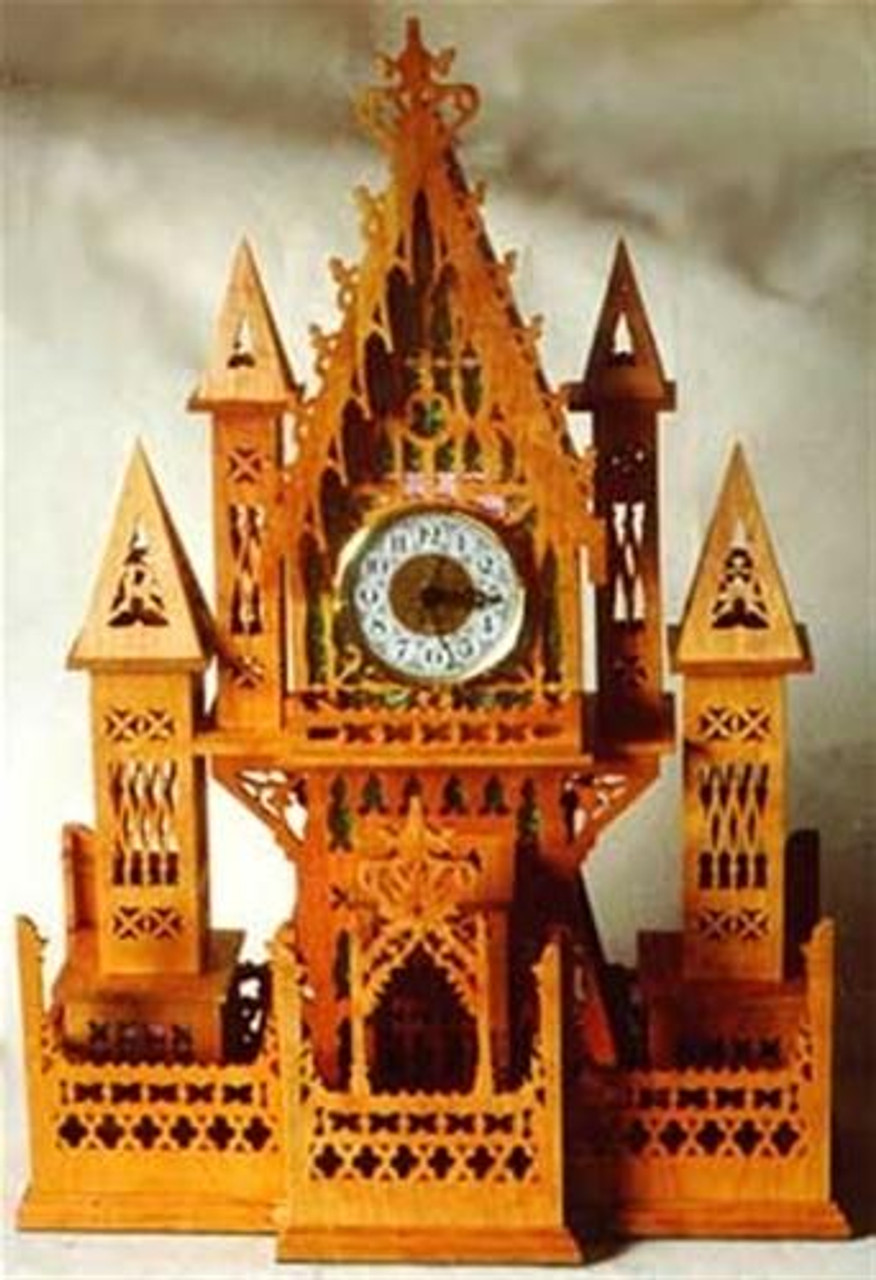 Wildwood Designs Grand Cathedral Scroll Saw Clock Plan