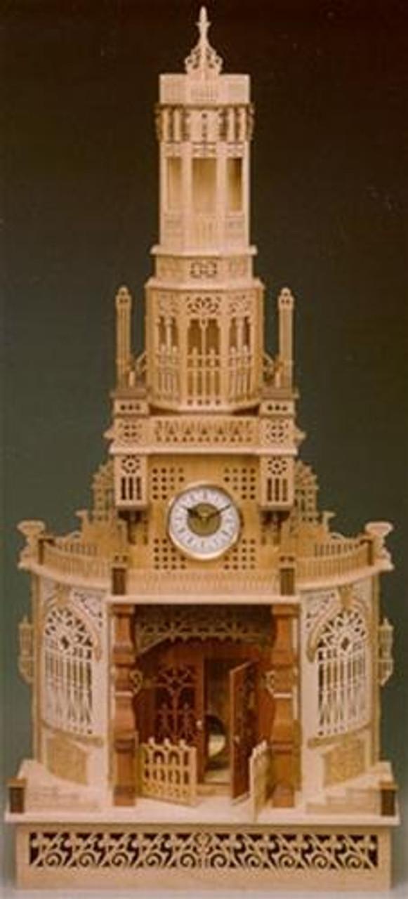 Wildwood Designs Grand Tower Scroll Saw Clock Plan