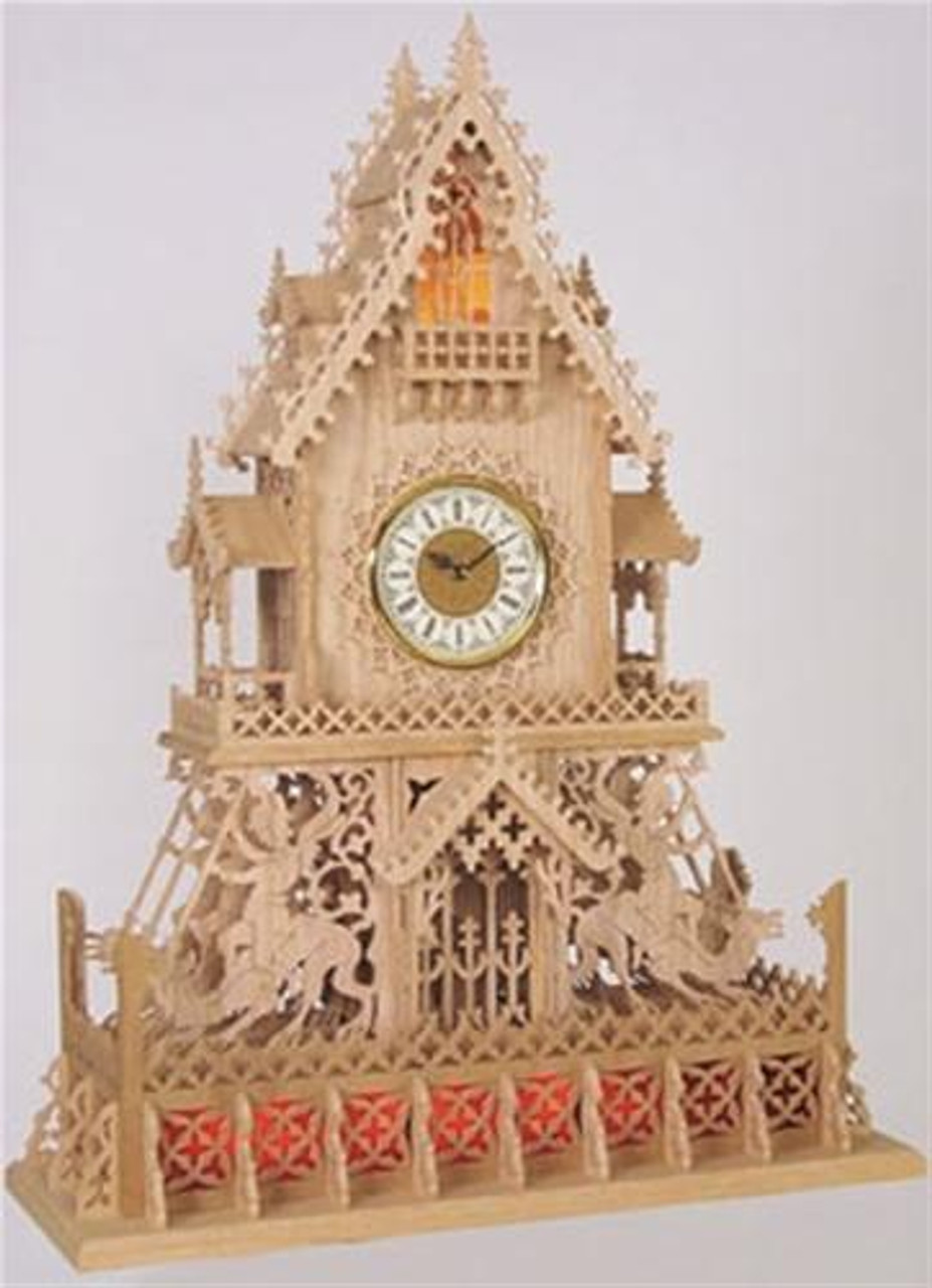 Wildwood Designs Gothic Scroll Saw Clock Plan