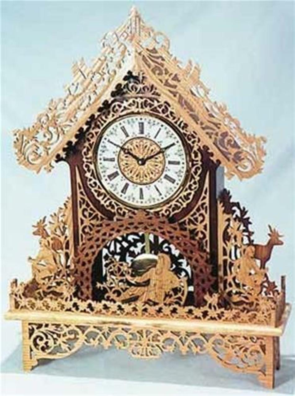 Wildwood Designs The Sherwood Scroll Saw Clock Plan