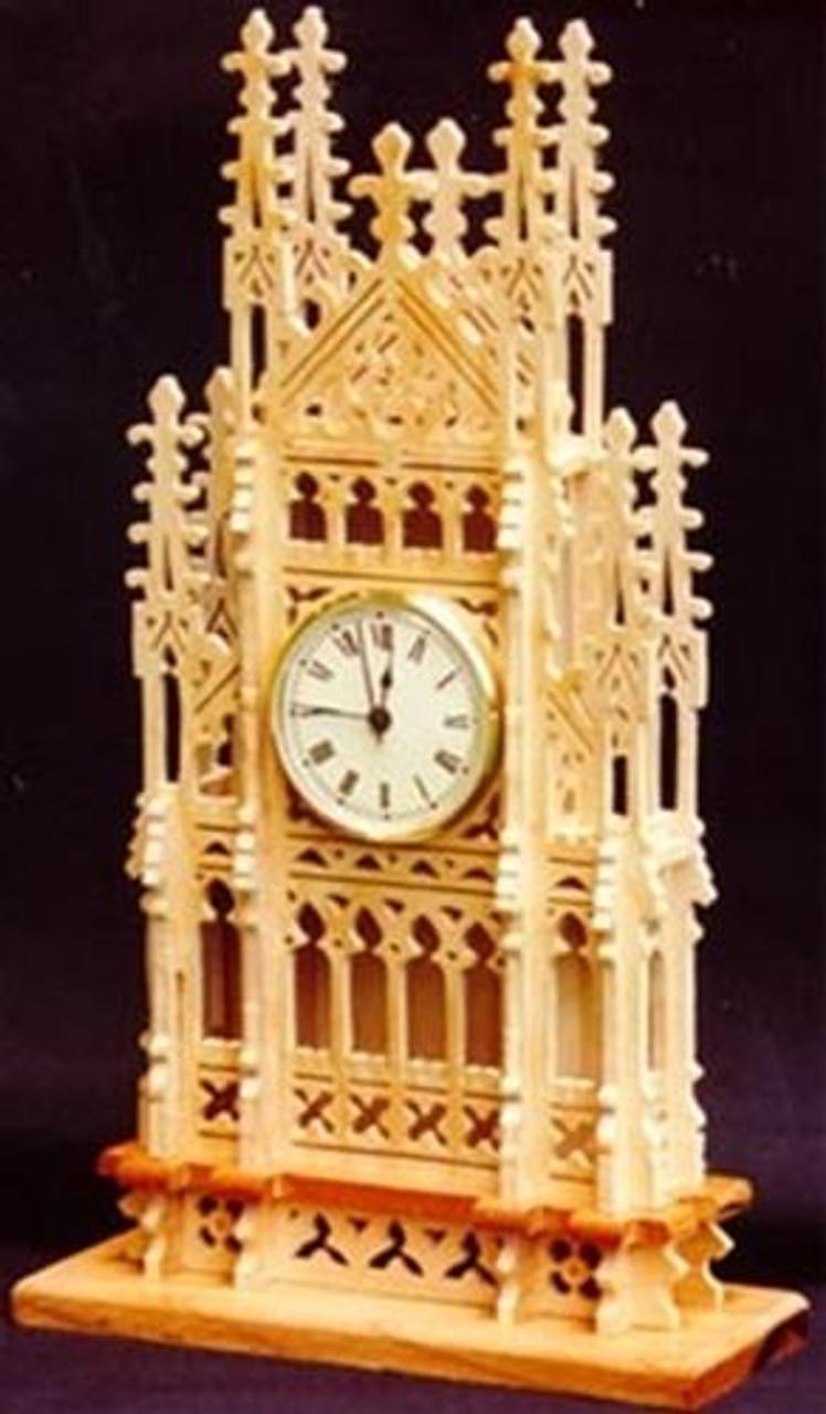 Wildwood Designs English Mantel Scroll Saw Clock Plan