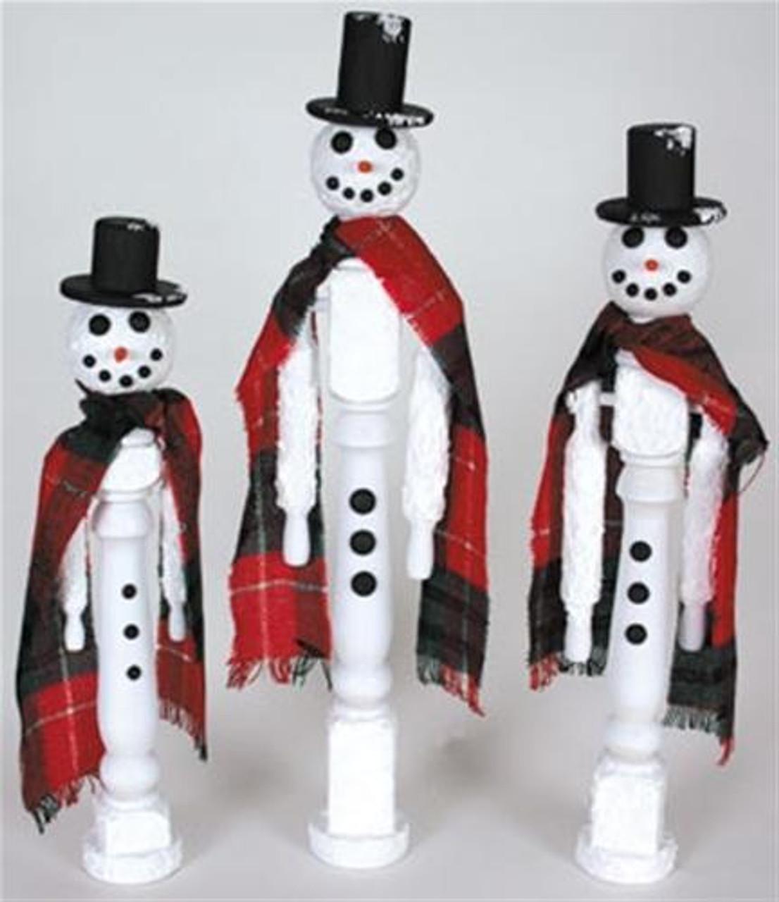 Cherry Tree Toys Spindle Snowmen Plan