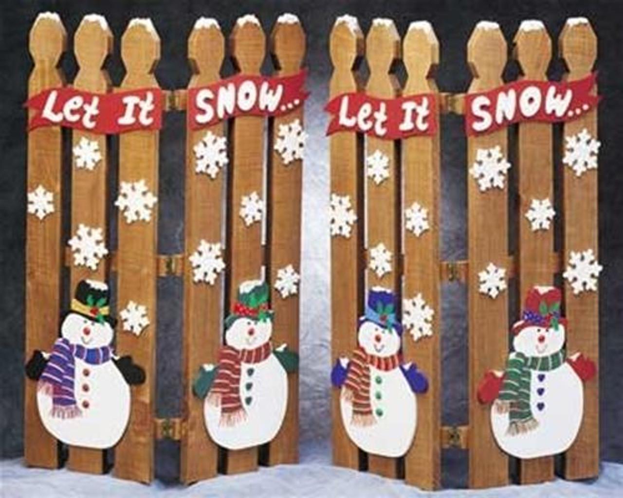 Cherry Tree Toys Snowman Picket Fence Plan