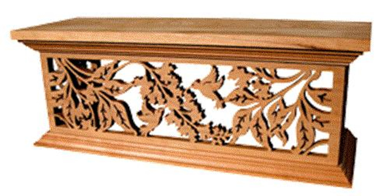 Timberlace Hummingbirds and Wisteria Shelf Plan