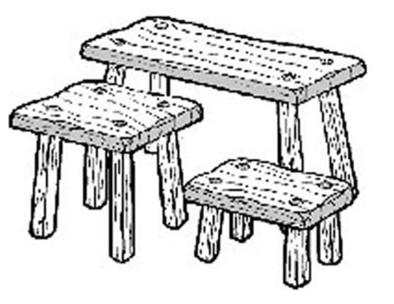 Cherry Tree Toys Fireside Stools 3 in One Plan