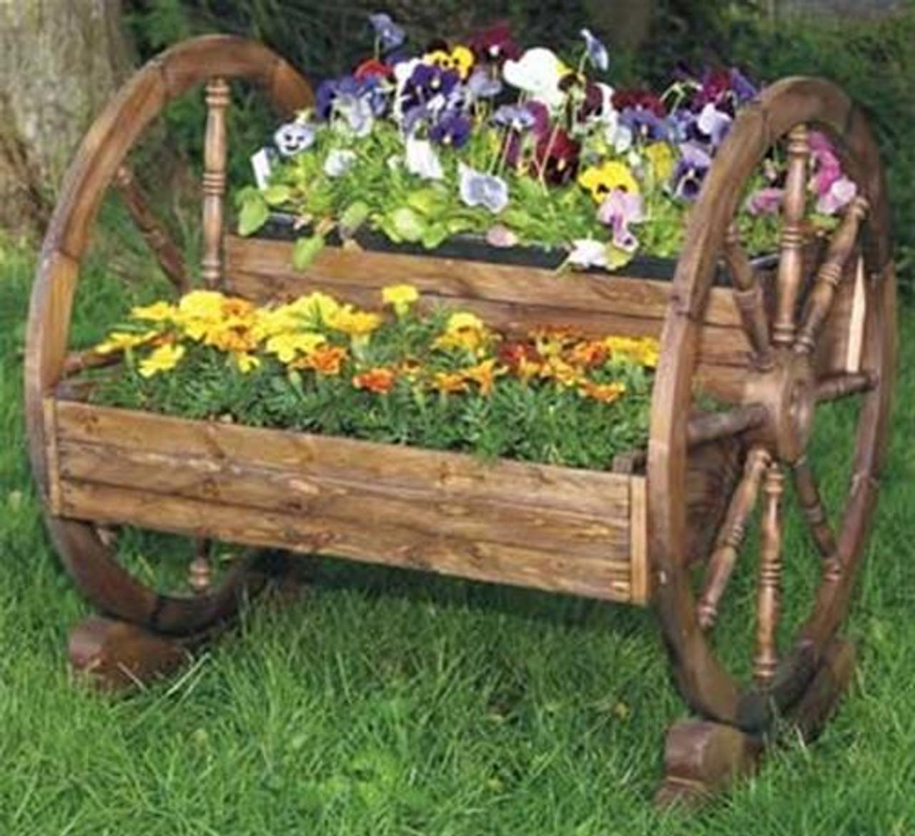 Cherry Tree Toys Wagon Wheel Planter Plan