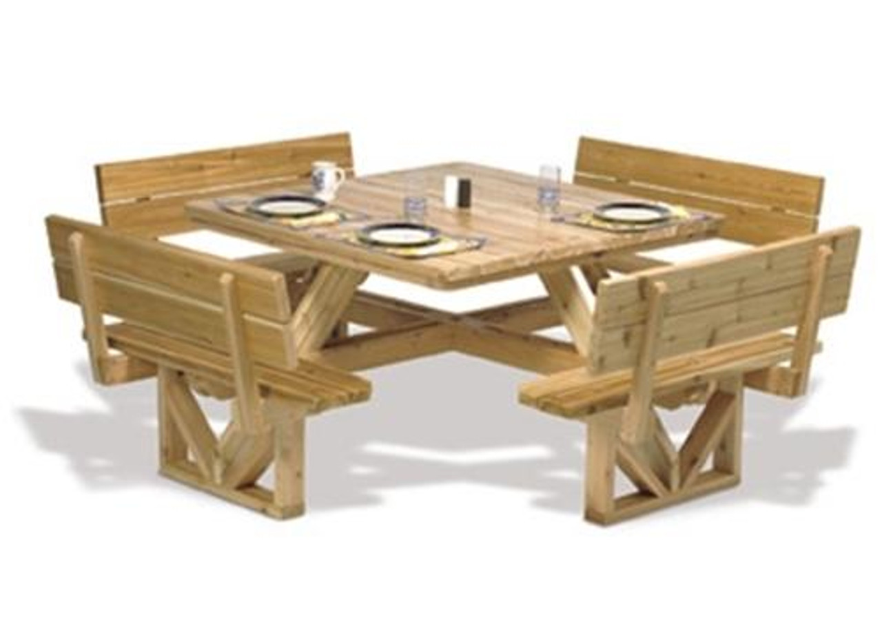 Winfield Collection Square Picnic Table Plan