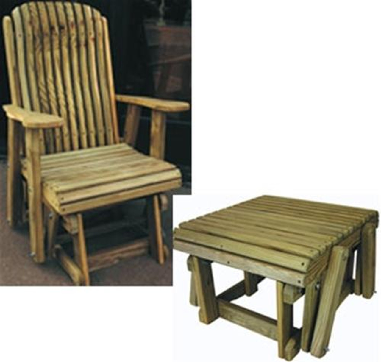 Cherry Tree Toys Glider Chair and Ottoman Plans