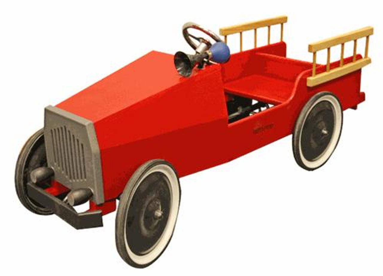 Cherry Tree Toys Fire Truck Pedal Car Plan