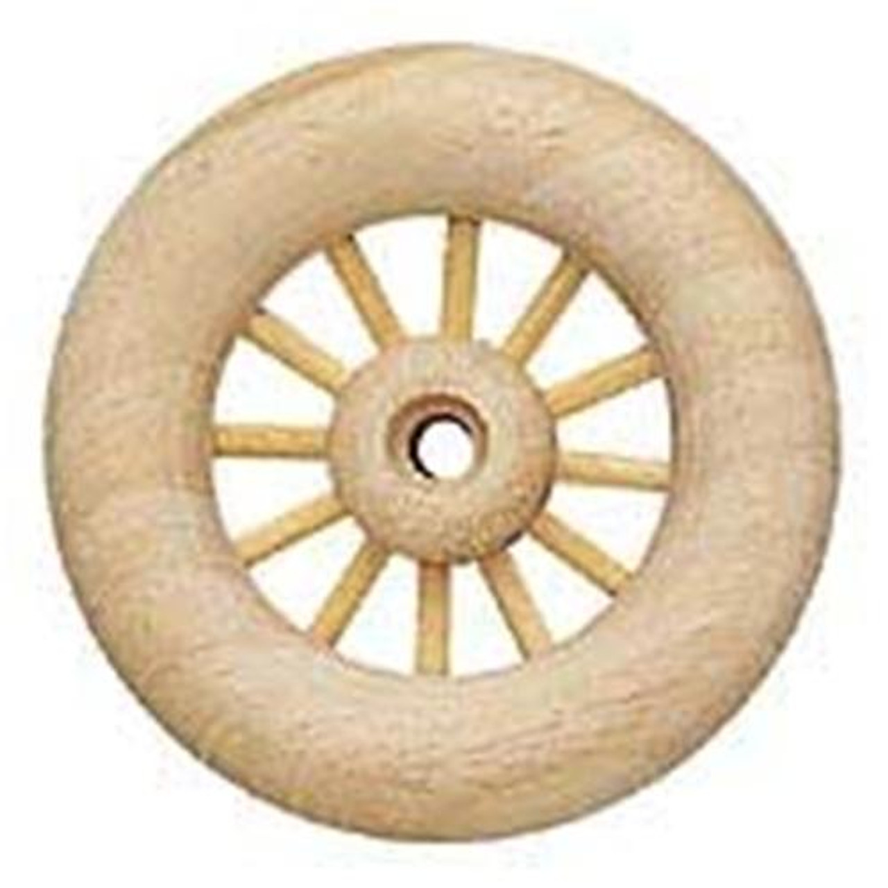 Cherry Tree Toys 3 1/2 Spoked Wooden Toy Wheels