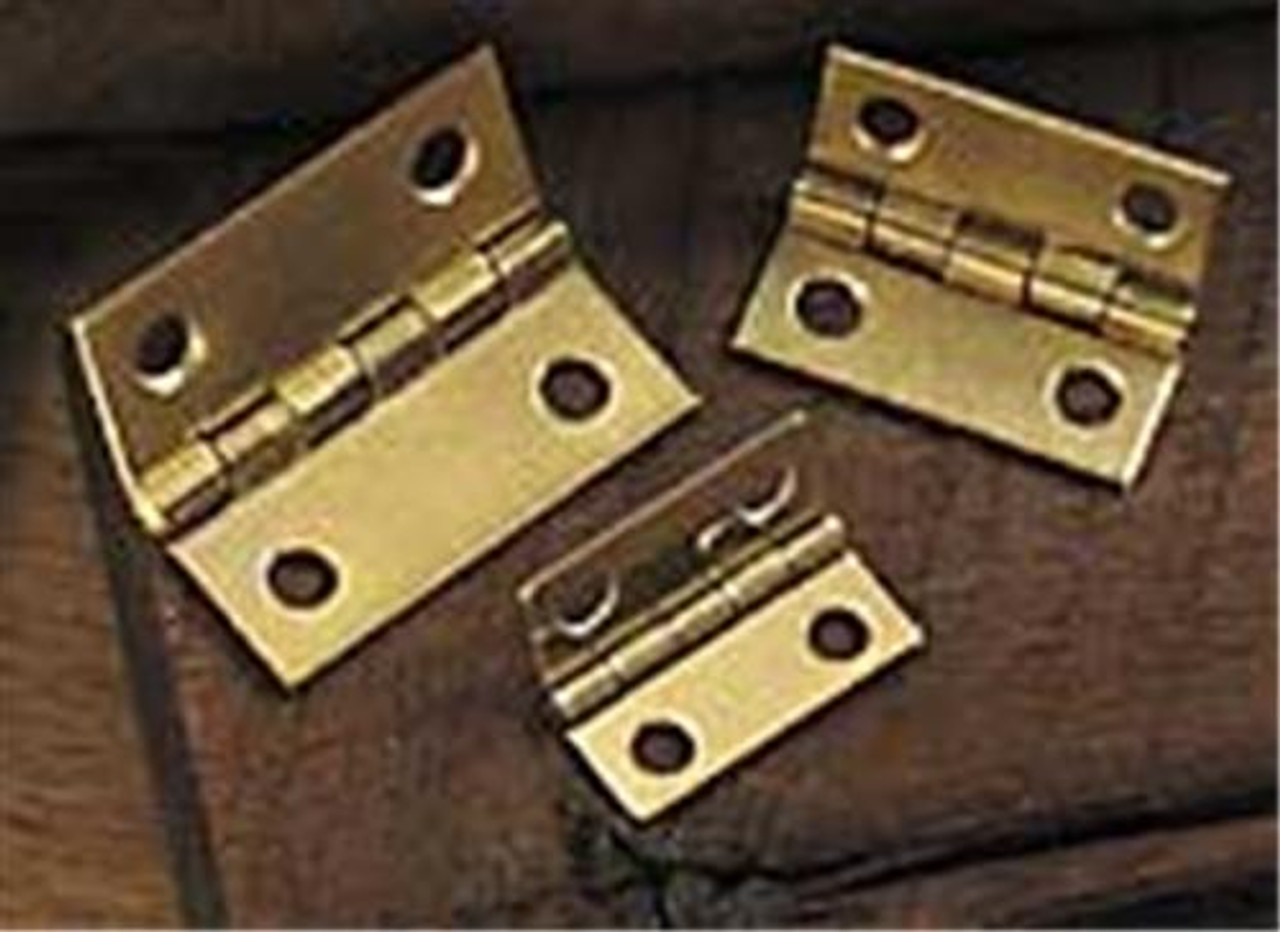 Cherry Tree Toys Pair of Brass Plated Hinges