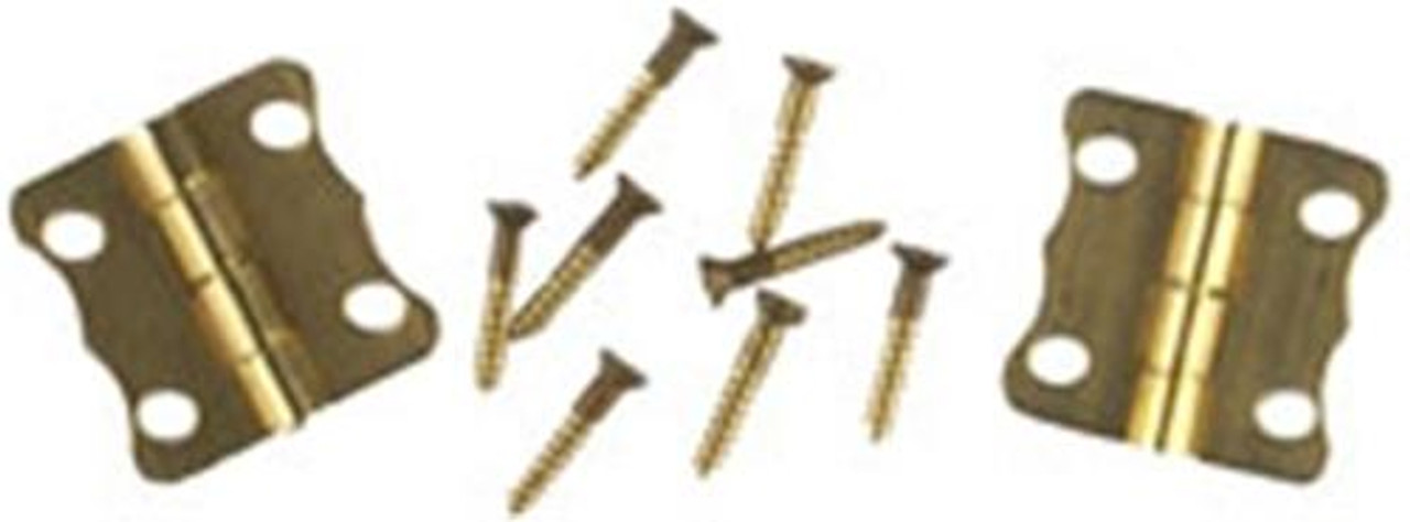 Cherry Tree Toys Fancy Brass Plated Hinges
