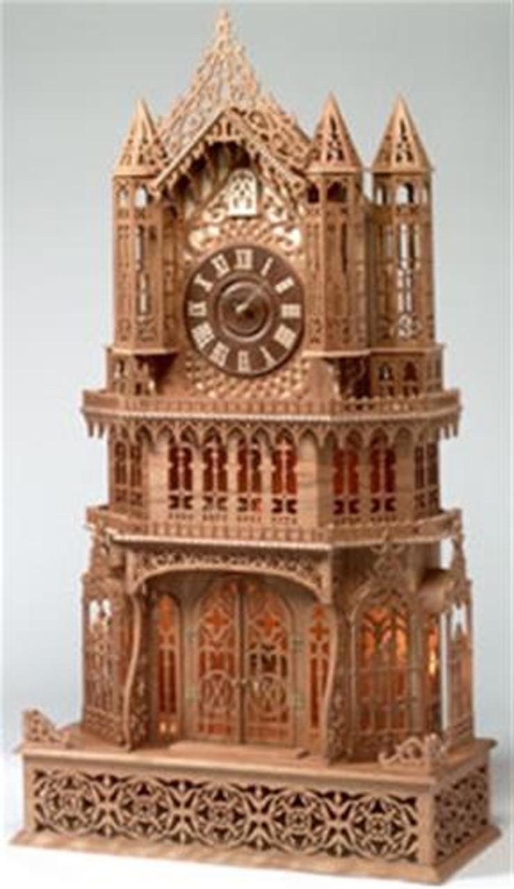 Wildwood Designs Roman Cathedral Scroll Saw Clock Plan