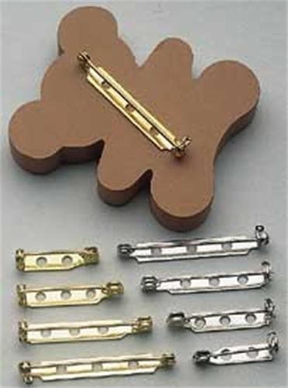 Pin Backs 1 1/2 Inch Silver