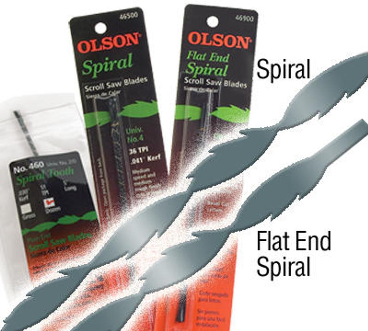Olson Saw Olson Flat End Spiral Scroll Saw Blades