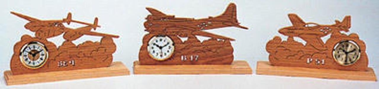 Wildwood Designs World War II Planes Scroll Saw Clock Pattern