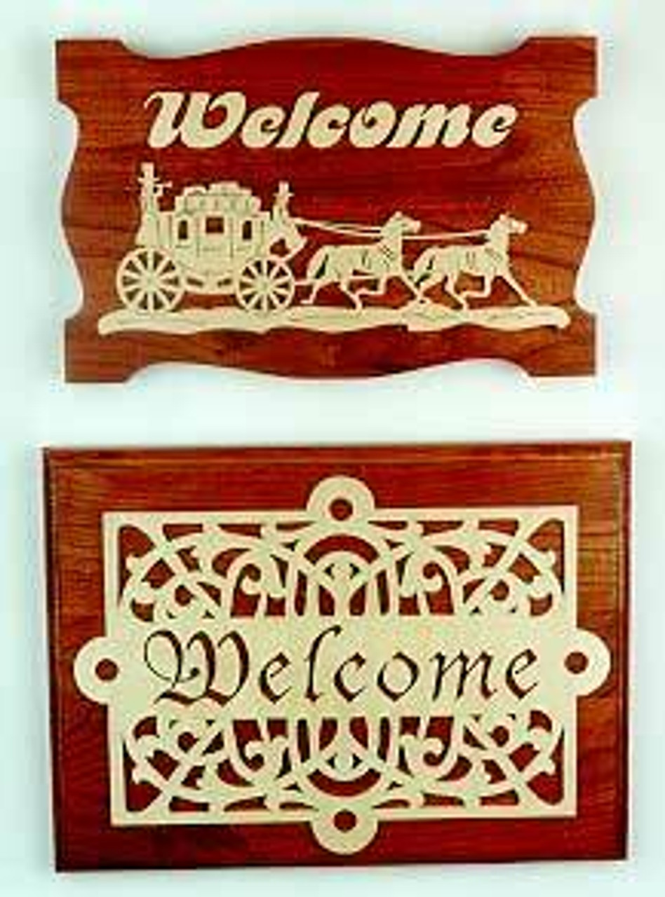 Wildwood Designs Stagecoach Welcome Sign Scroll Saw Pattern