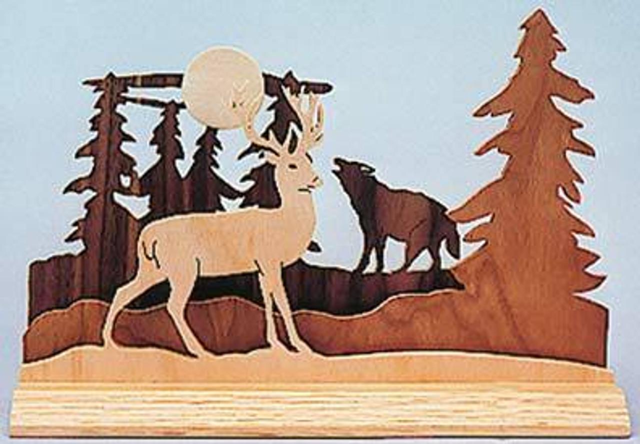 Wildwood Designs Dimensional Wolves Scroll Saw Pattern