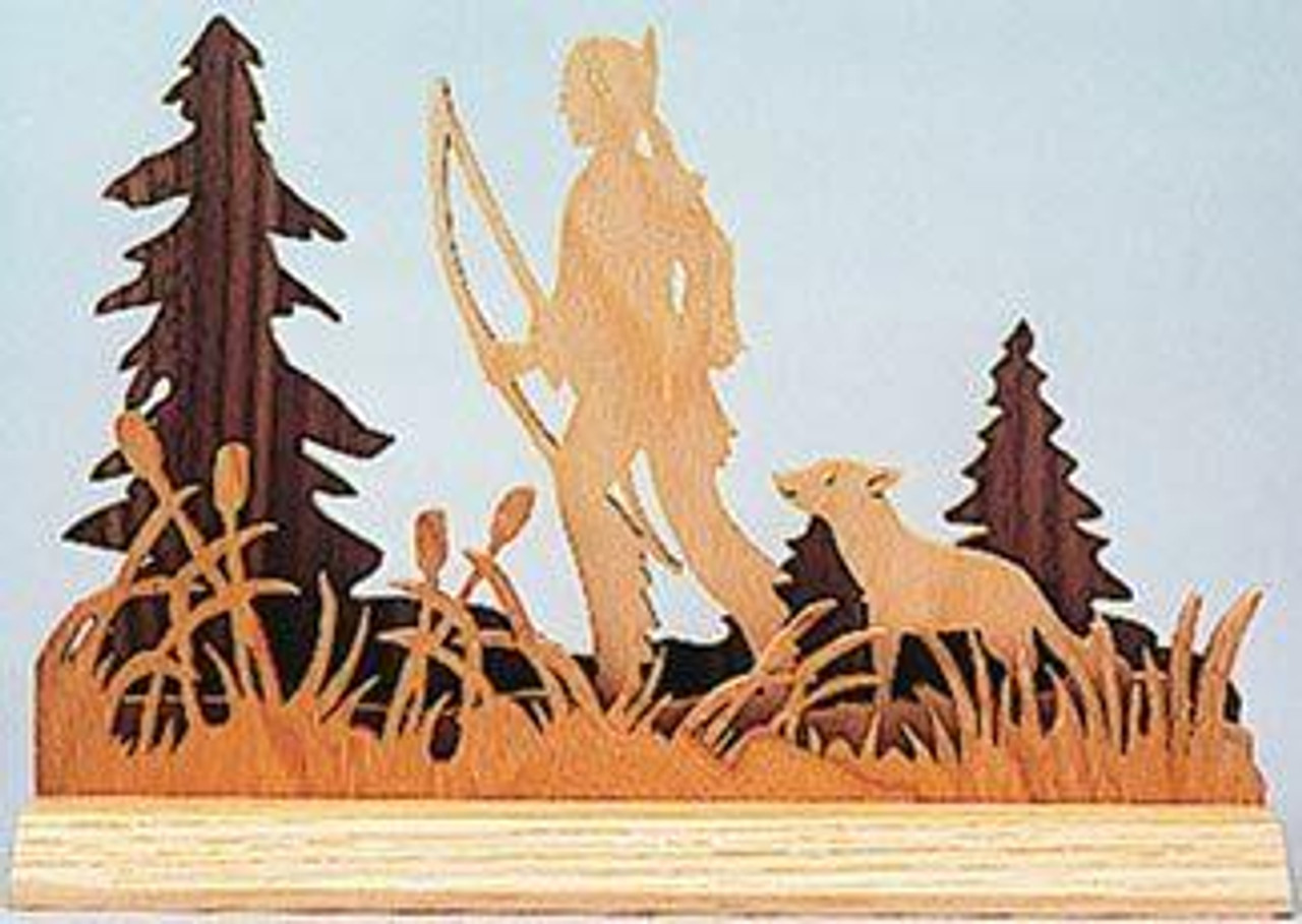 Wildwood Designs Dimensional Indian Scroll Saw Pattern