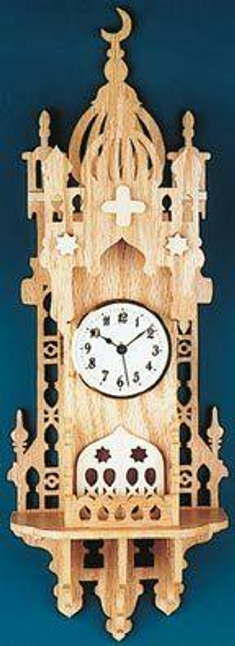 Wildwood Designs Arabian Nights Scroll Saw Clock Pattern