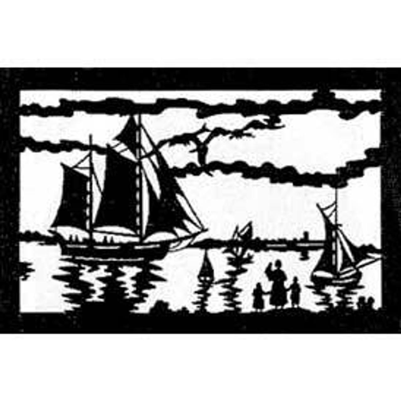Wildwood Designs Sailing Home Scroll Saw Pattern