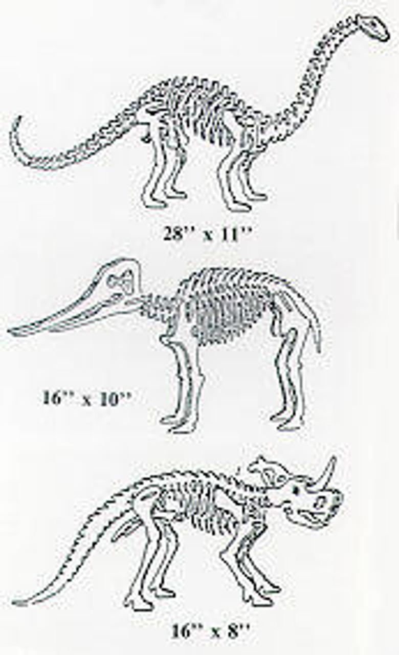 Wildwood Designs Prehistoric Animals Scroll Saw Pattern