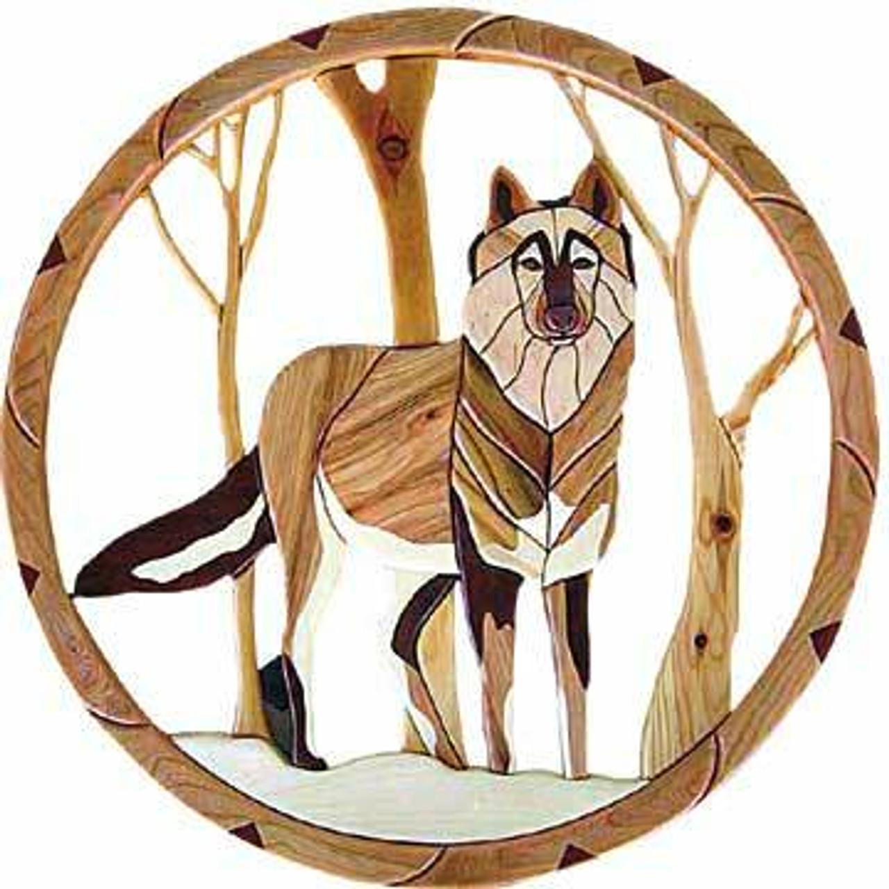 Lone Wolf Intarsia Plan