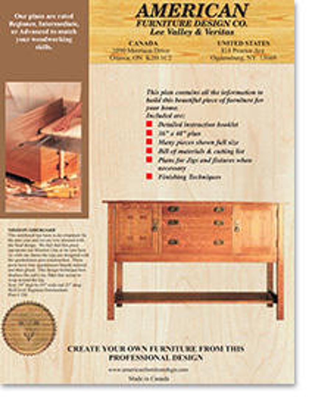 American Furniture Mission Sideboard Plan