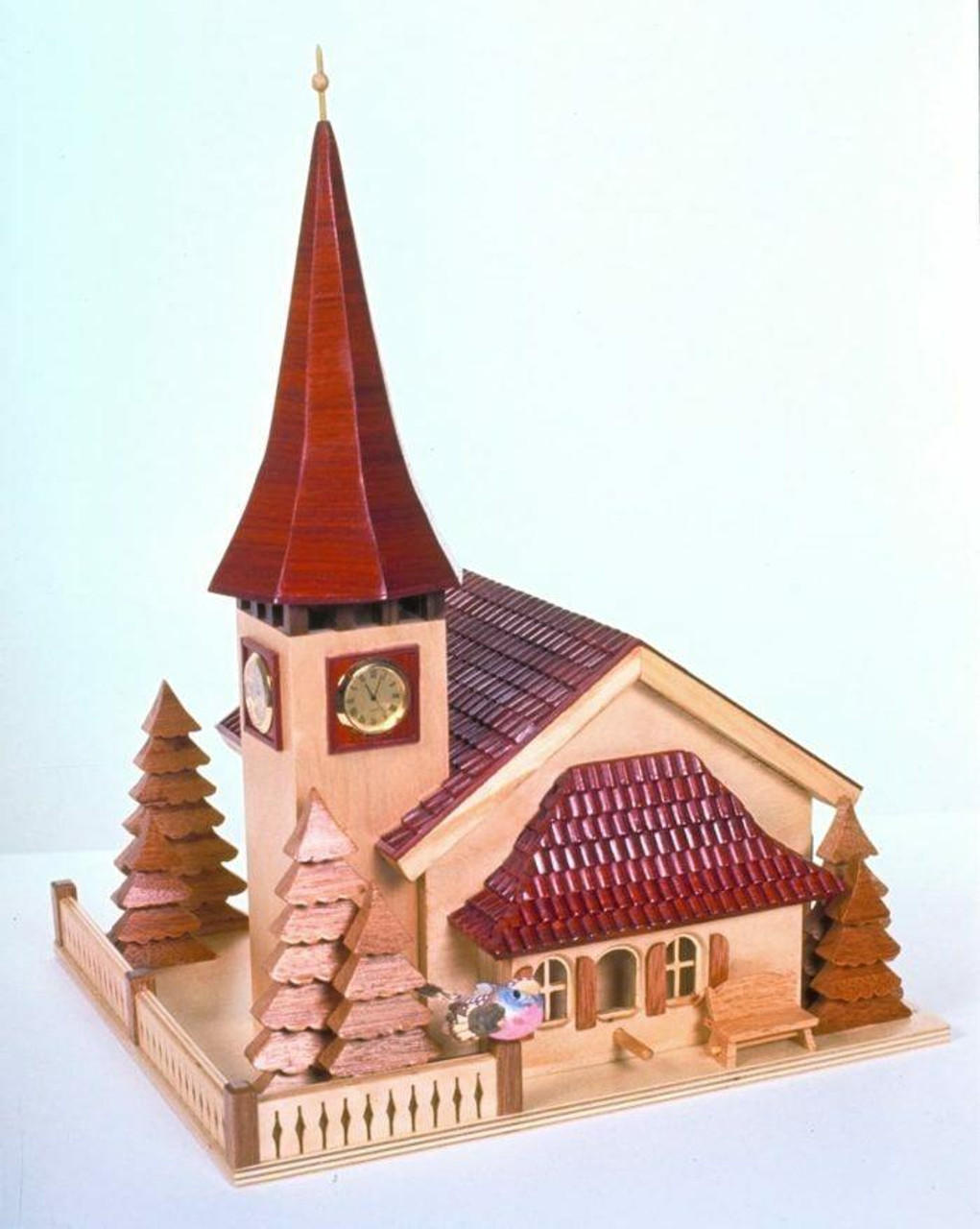 Build a beautiful piece of art with our  Swiss Church Birdhouse Plan.