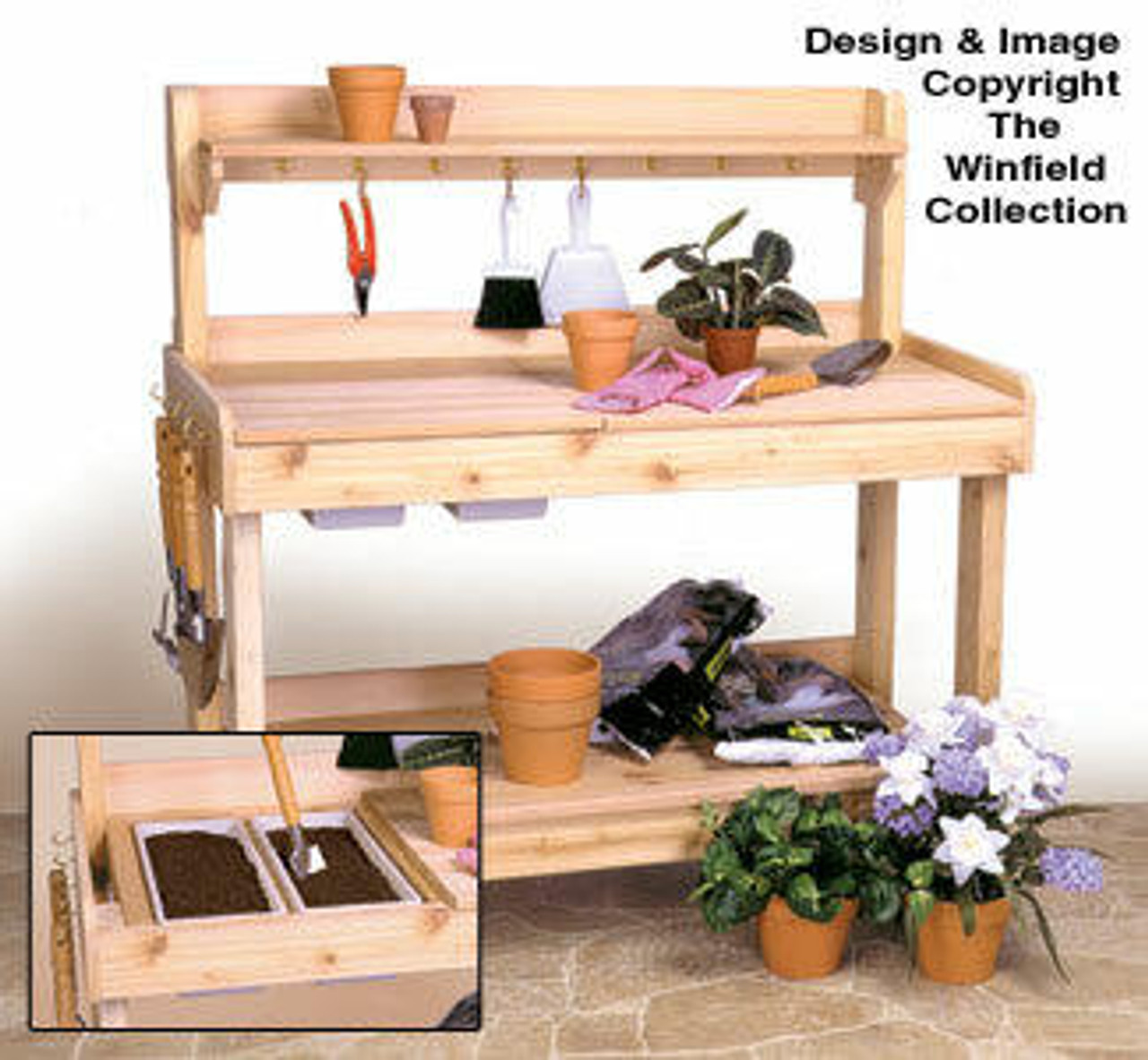 Winfield Collection Potting Bench Woodworking Plan