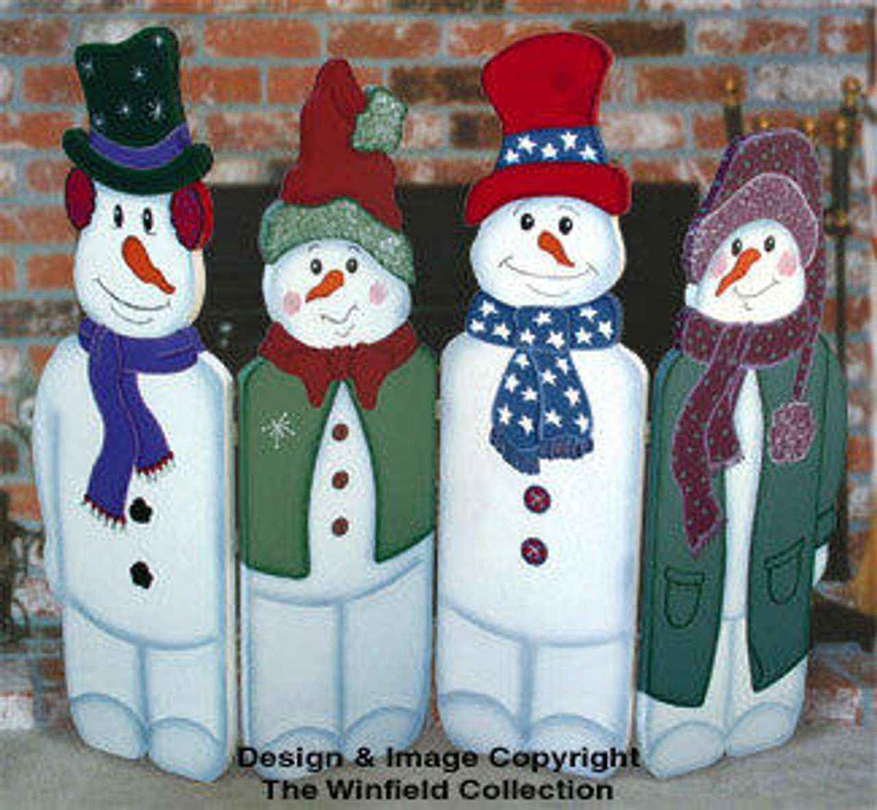 Winfield Collection Folding Snowman Woodworking Plan