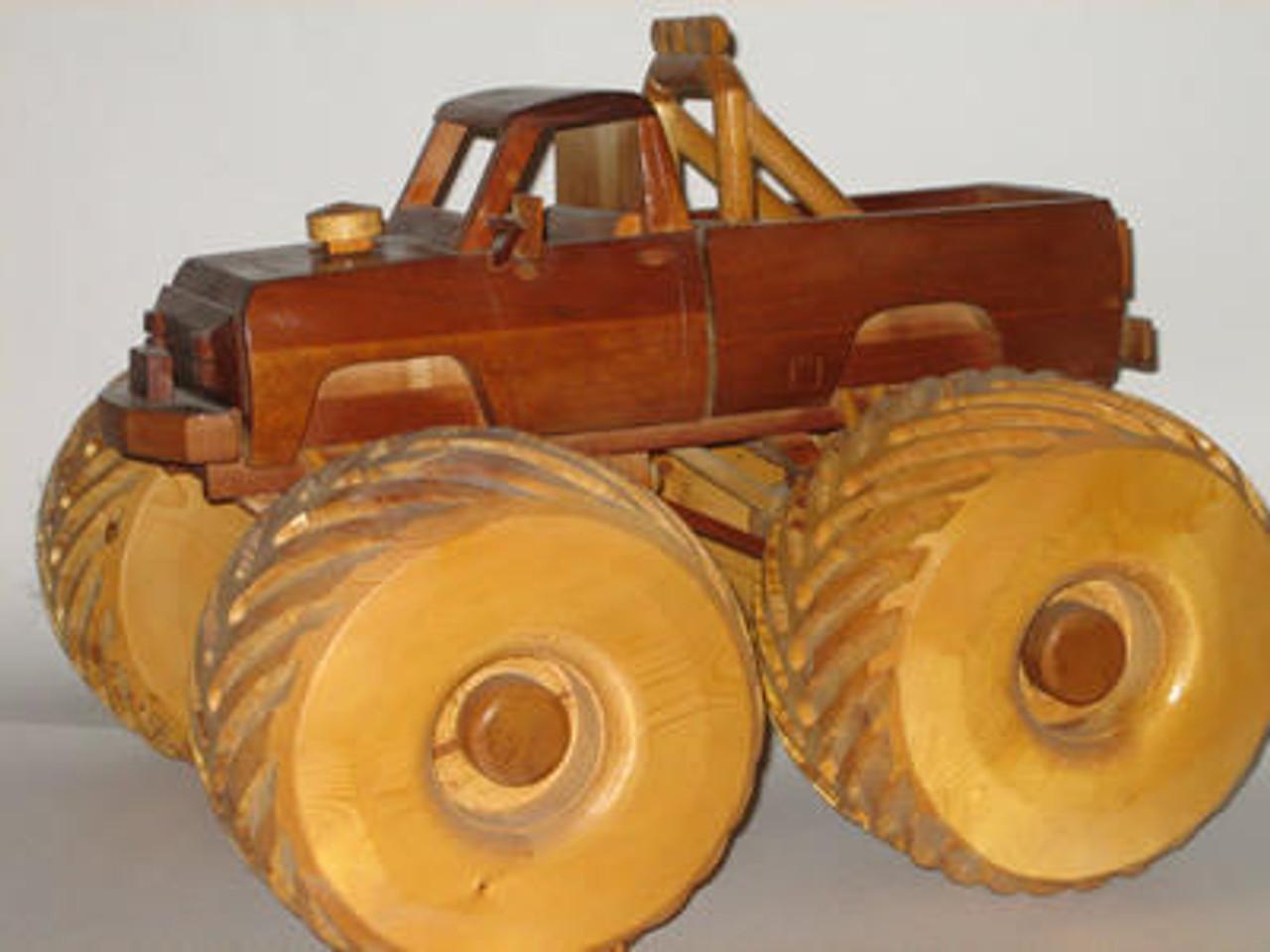 Gatto Plan Supply Monster Truck Woodworking Plan