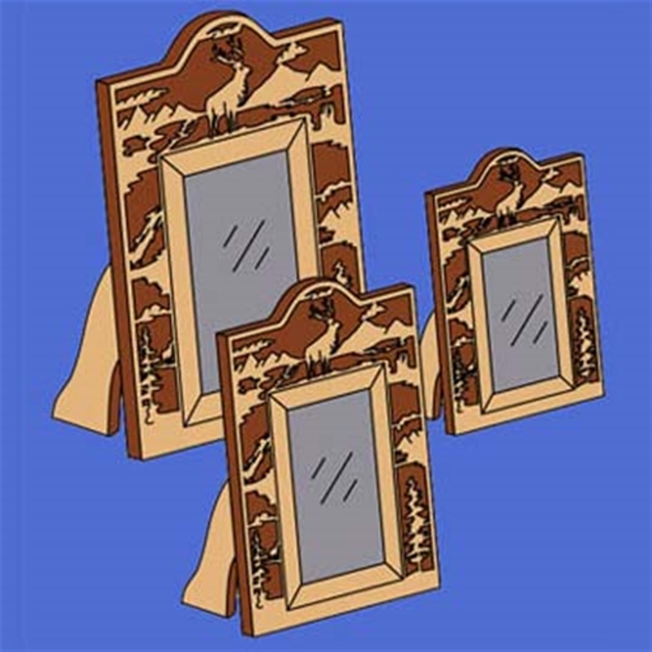 The Elk Scroll Saw Picture Frame Set Woodworking Plan will be a perfect way to display your pictures of your family.