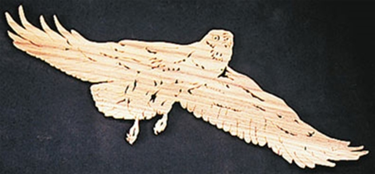 Scroll Saw this beautiful bird with the Swainson's Hawk Scroll Saw Plan.