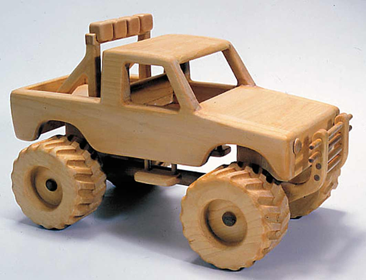 If your interested in the process of making toys, build this amazing truck with the 4X4 Truck Woodworking Plan.