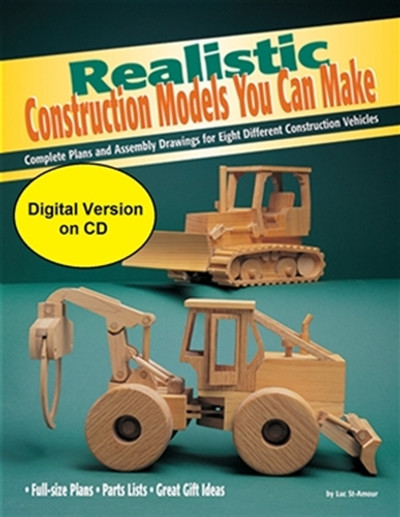 Realistic Construction Models You Can Make showing you some different construction models that you will make and it's stating that this is a CD NOT a book.