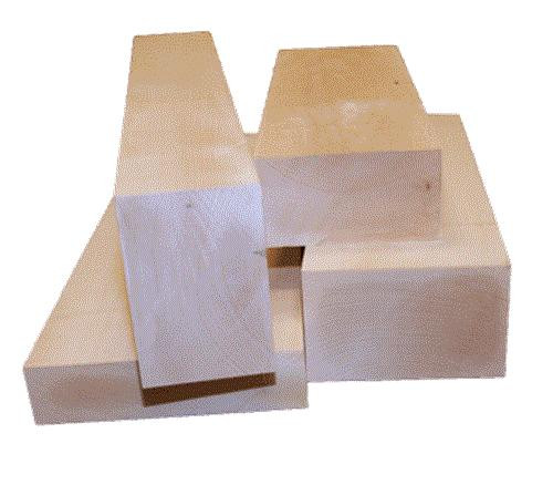 Cherry Tree Toys Basswood Carving Blank 4 x 4 x 18