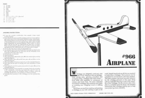 Cherry Tree Toys Airplane Whirligig Plan