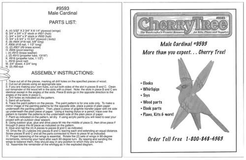 Cherry Tree Toys Male Cardinal Whirligig Plan