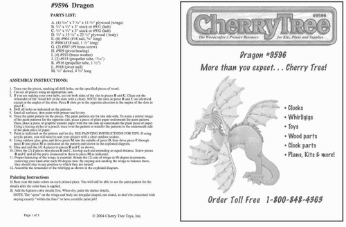Cherry Tree Toys Dragon Whirligig Plan