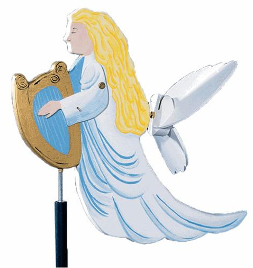 Cherry Tree Toys Angel with Harp Whirligig Plan
