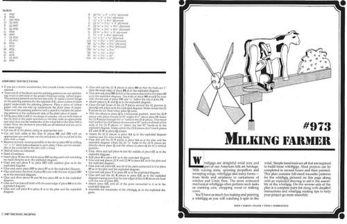 Cherry Tree Toys Milking Farmer Whirligig Plan