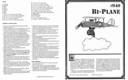 Cherry Tree Toys Bi-Plane Whirligig Plan