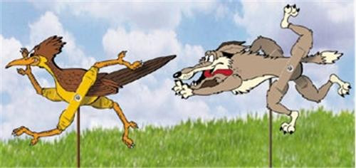Cherry Tree Toys Roadrunner and Coyote Whirligig Parts Kit