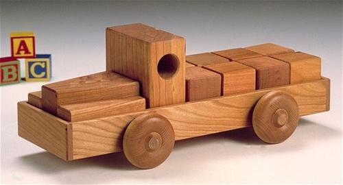 Cherry Tree Toys Block Truck Parts Kit