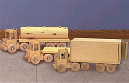 Cherry Tree Toys Toy Trucks Set of 3 Parts Kit