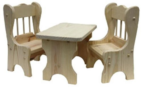 Cherry Tree Toys Doll Chair and Table Set Parts Kit