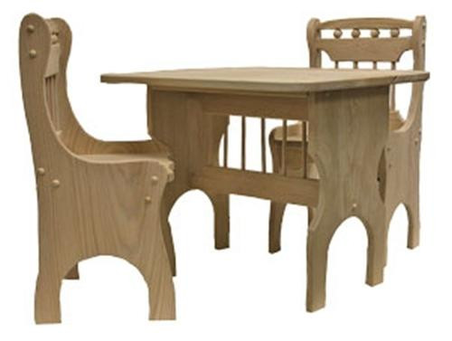 Cherry Tree Toys Childrens Table and Chairs Ready to Assemble Kit